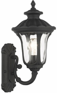 Livex 7850-14 Oxford Textured Black Exterior 16  Wall Lighting Sconce