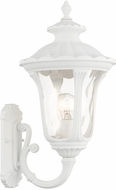 Livex 7852-13 Oxford Textured White Exterior 19  Wall Mounted Lamp