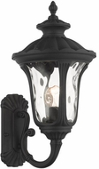 Livex 7852-14 Oxford Textured Black Outdoor 19  Wall Light Sconce