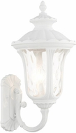 Livex 7856-13 Oxford Textured White Exterior 22  Wall Light Sconce