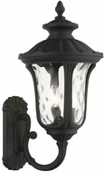 Livex 7856-14 Oxford Textured Black Outdoor 22  Wall Sconce Light