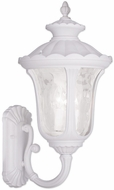 Livex 7862-03 Oxford Traditional White Wall Lighting Fixture