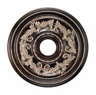 Livex 8200-40 Traditional Hand Rubbed Bronze with Antique Silver Accents 22.5  Medallion