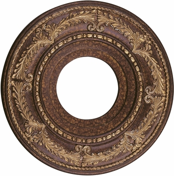 Livex 8204-64 Traditional Palacial Bronze with Gilded Accents 12 Medallion