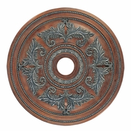 Livex 8210-17 Crackled Bronze with Vintage Stone Accents 30.5  Ceiling Medallion