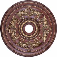 Livex 8210-63 Verona Bronze with Aged Gold Leaf Accents 30.5  Medallion