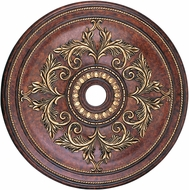Livex 8211-63 Verona Bronze with Aged Gold Leaf Accents 40.5  Ceiling Medallion