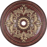 Livex 8228-63 Verona Bronze with Aged Gold Leaf Accents 48.5  Medallion