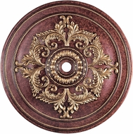 Livex 8229-63 Verona Bronze with Aged Gold Leaf Accents 60  Medallion