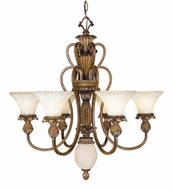 Livex 8456-57 Savannah Traditional Venetian Patina Chandelier Lighting