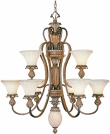 Livex 8459-57 Savannah Traditional Venetian Patina Lighting Chandelier