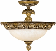 Livex 8467-57 Savannah Traditional Venetian Patina Flush Mount Lighting Fixture