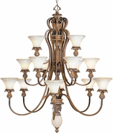 Livex 8469-57 Savannah Traditional Venetian Patina Chandelier Lamp
