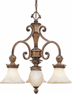 Livex 8473-57 Savannah Traditional Venetian Patina Mini Chandelier Light