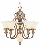 Livex 8485-57 Savannah Traditional Venetian Patina Ceiling Chandelier