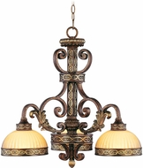 Livex 8523-64 Seville Traditional Palacial Bronze with Gilded Accents Hanging Chandelier