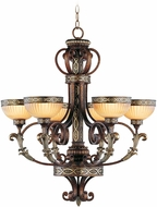 Livex 8526-64 Seville Traditional Palacial Bronze with Gilded Accents Chandelier Lighting
