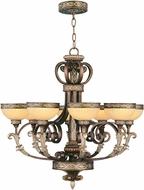 Livex 8528-64 Seville Traditional Palacial Bronze with Gilded Accents Lighting Chandelier
