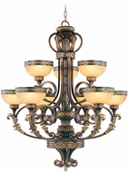 Livex 8529-64 Seville Traditional Palacial Bronze with Gilded Accents Chandelier Lamp