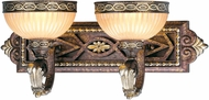 Livex 8532-64 Seville Traditional Palacial Bronze with Gilded Accents 2-Light Bathroom Sconce