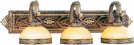 Livex 8533-64 Seville Traditional Palacial Bronze with Gilded Accents 3-Light Bath Sconce