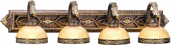 Livex 8534-64 Seville Traditional Palacial Bronze with Gilded Accents 4-Light Vanity Light Fixture
