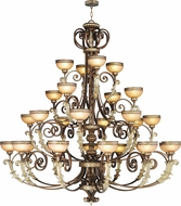 Livex 8537-64 Seville Traditional Palacial Bronze with Gilded Accents Chandelier Light