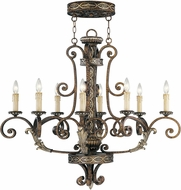 Livex 8538-64 Seville Traditional Palacial Bronze with Gilded Accents Ceiling Chandelier