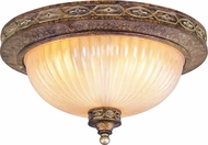 Livex 8542-64 Seville Traditional Palacial Bronze with Gilded Accents 13  Flush Mount Ceiling Light Fixture