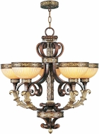 Livex 8545-64 Seville Traditional Palacial Bronze with Gilded Accents Chandelier Light