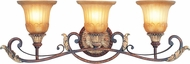 Livex 8553-63 Villa Verona Traditional Verona Bronze with Aged Gold Leaf Accent Bath Lighting