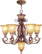 Livex 8555-63 Villa Verona Traditional Verona Bronze with Aged Gold Leaf Accent Chandelier Lamp