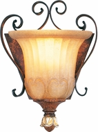 Livex 8560-63 Villa Verona Traditional Verona Bronze with Aged Gold Leaf Accent Light Sconce