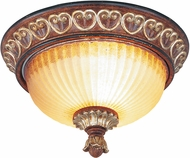 Livex 8562-63 Villa Verona Traditional Verona Bronze with Aged Gold Leaf Accent Ceiling Lighting Fixture