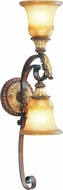 Livex 8572-63 Villa Verona Traditional Verona Bronze with Aged Gold Leaf Accent Lighting Sconce