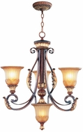 Livex 8574-63 Villa Verona Traditional Verona Bronze with Aged Gold Leaf Accent Chandelier Lighting