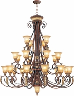 Livex 8589-63 Villa Verona Traditional Verona Bronze with Aged Gold Leaf Accent Ceiling Chandelier