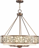Livex 8678-64 Avalon Palacial Bronze with Gilded Accent Pendant Lighting Fixture