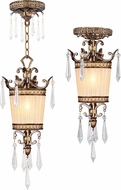 Livex 8801-65 La Bella Hand Painted Vintage Gold Leaf Mini Drop Lighting / Home Ceiling Lighting