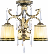 Livex 8804-65 La Bella Hand Painted Vintage Gold Leaf Ceiling Light