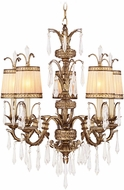 Livex 8805-65 La Bella Hand Painted Vintage Gold Leaf Chandelier Lighting