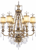 Livex 8806-65 La Bella Hand Painted Vintage Gold Leaf Lighting Chandelier
