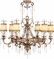 Livex 8807-65 La Bella Hand Painted Vintage Gold Leaf Chandelier Lamp