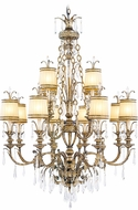 Livex 8809-65 La Bella Hand Painted Vintage Gold Leaf Chandelier Light