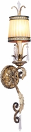 Livex 8811-65 La Bella Traditional Hand Painted Vintage Gold Leaf Lamp Sconce