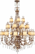 Livex 8815-65 La Bella Hand Painted Vintage Gold Leaf Ceiling Chandelier