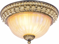 Livex 8818-65 La Bella Traditional Hand Painted Vintage Gold Leaf 13  Ceiling Lighting Fixture