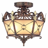 Livex 8823-64 Bristol Manor Traditional Palacial Bronze with Gilded Accents Flush Lighting