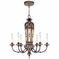 Livex 8826-64 Bristol Manor Traditional Palacial Bronze with Gilded Accents Hanging Chandelier