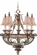 Livex 8845-64 Pomplano Traditional Palacial Bronze with Gilded Accents Chandelier Lighting